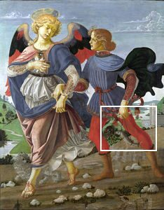 Andrea_del_Verrocchio_Tobias_and_the_Angel_Tobias-Leonardo_da_Vinci_tr1