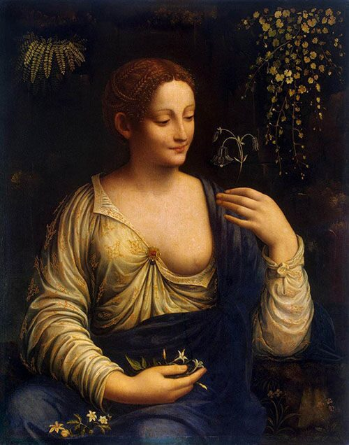 "Portrait of Leonardo da Vinci Mother №2 ""Kolombina"" Artist Francesco Melzi"