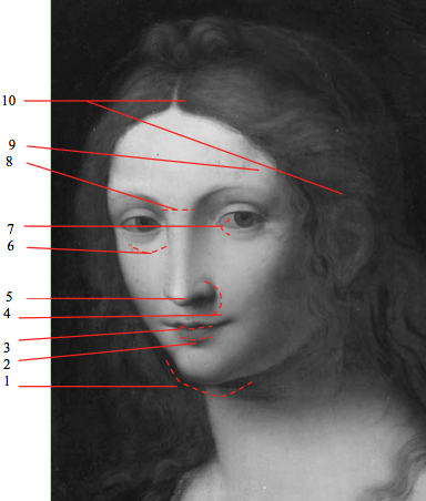 "Portrait of mother №1 ""Magdalena"" Artist Leonardo da Vinci"